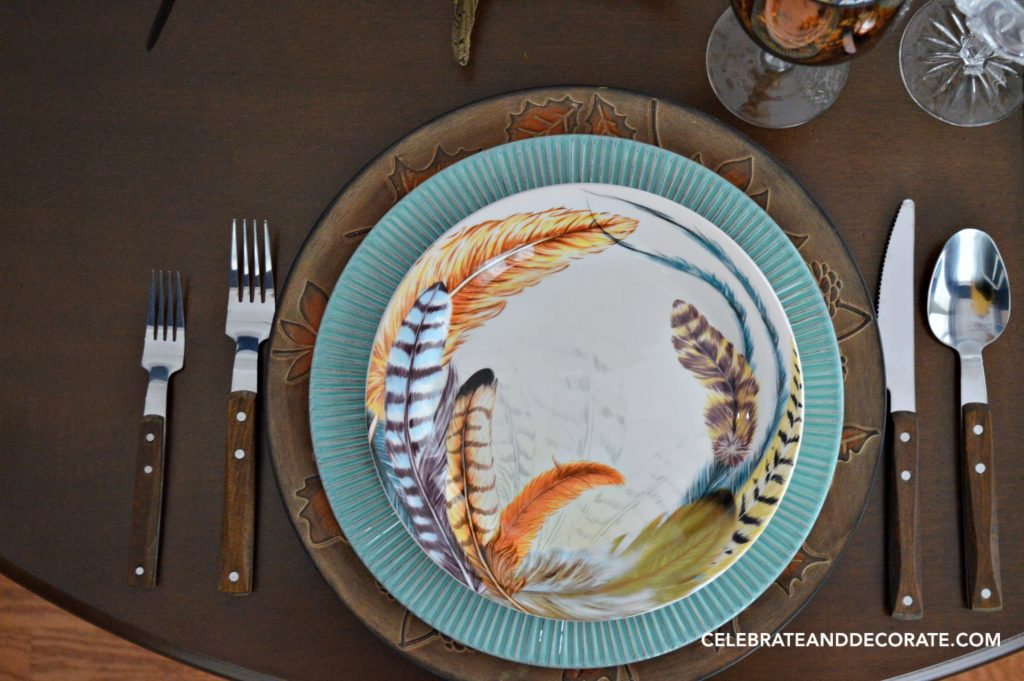 Fall Feather Inspired Tablescape