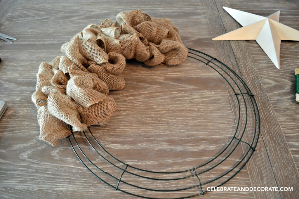 how to make a wreath out of burlap