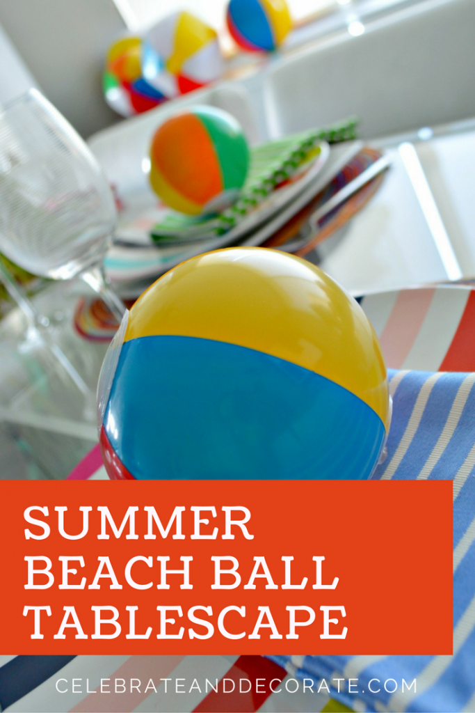 Summer Beach Ball Tablescape