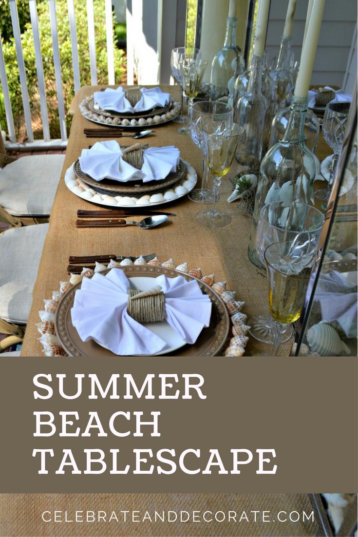 Summer Beach Tablescape - Celebrate & Decorate