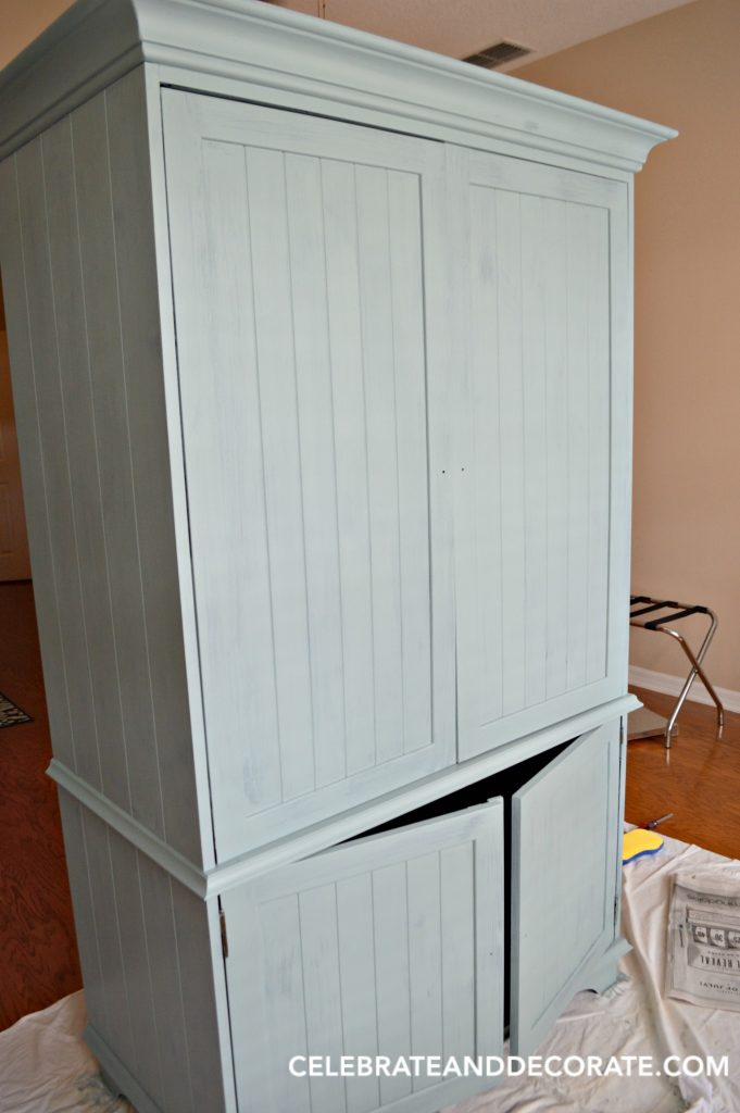 Using Milk Paint to restyle an old armoire