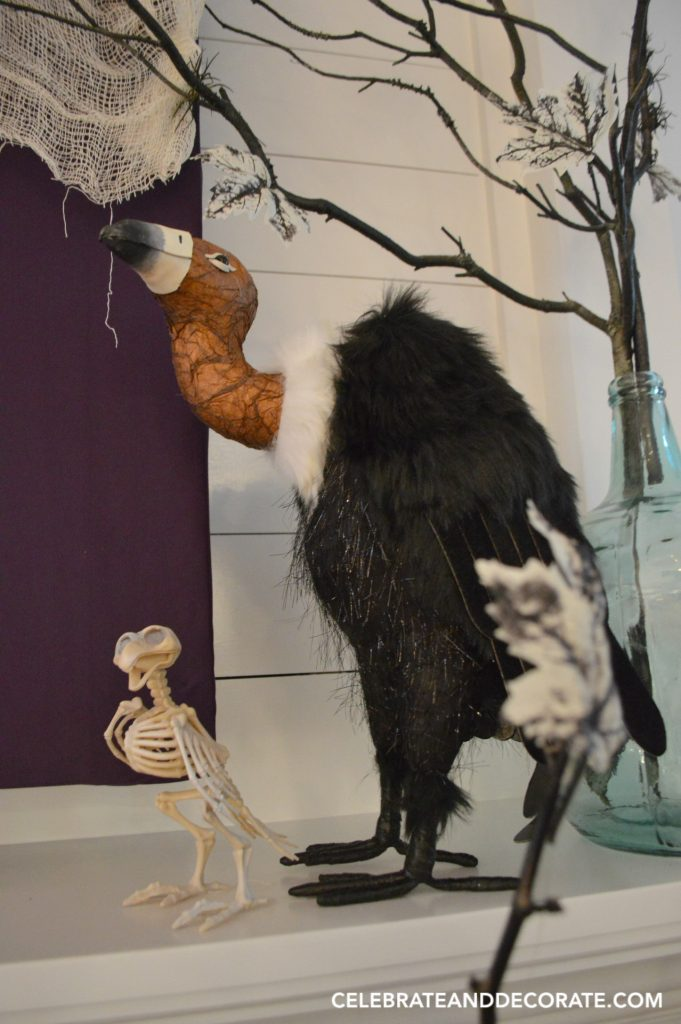 a-buzzard-and-a-little-bird-skeleton-for-halloween-decor