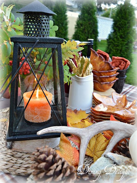 Fall Lantern Display