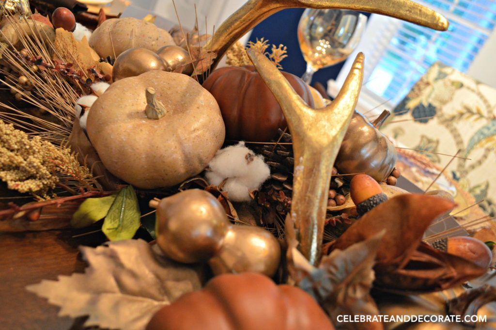 golden-tablescape-for-fall-fall-centerpiece-with-golden-gourds