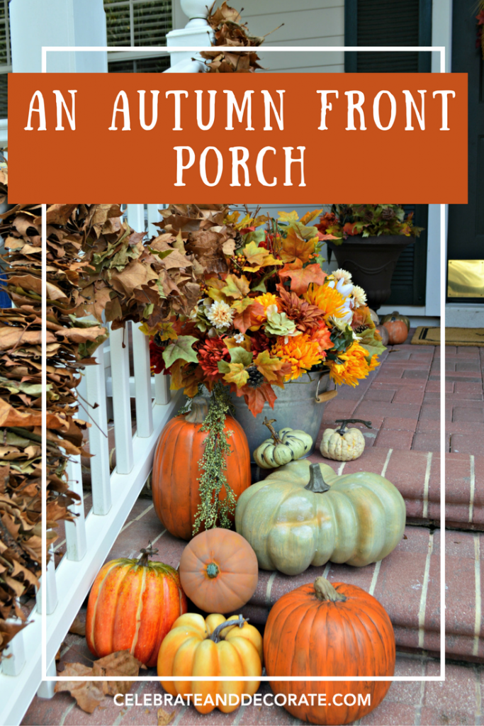 A Lush Autumn Front Porch decorated for the season