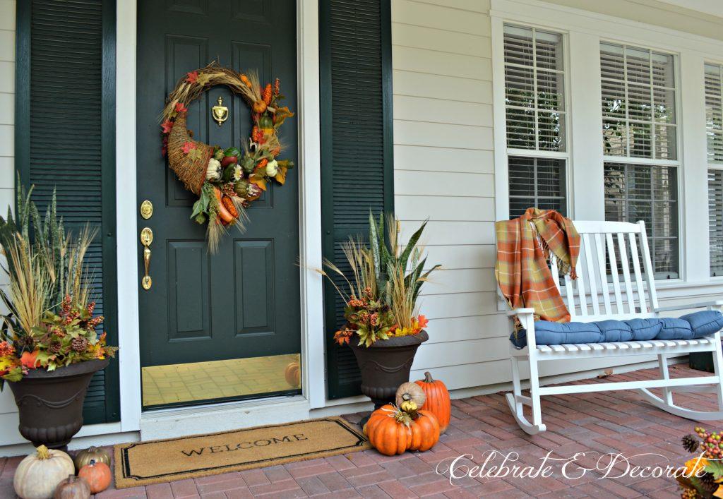 A pretty Fall front porch