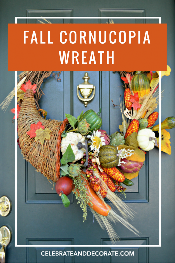 Cornucopia Fall Wreath Celebrate Decorate