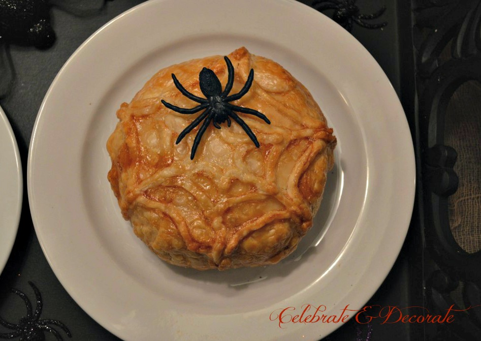 halloween-spider-web-baked-brie