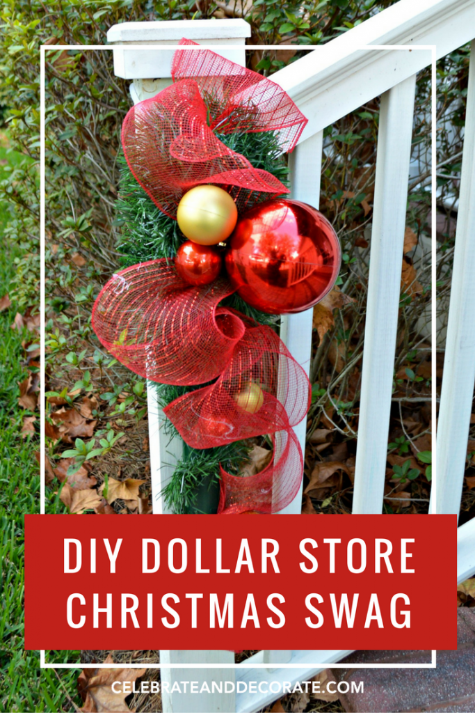 Dollar store christmas swags celebrate decorate diy dollar store christmas swags solutioingenieria Gallery