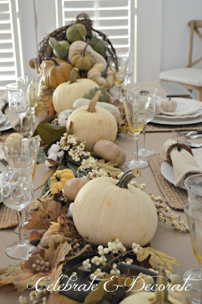 Thanksgiving tablescape - The bounty of the harvest.