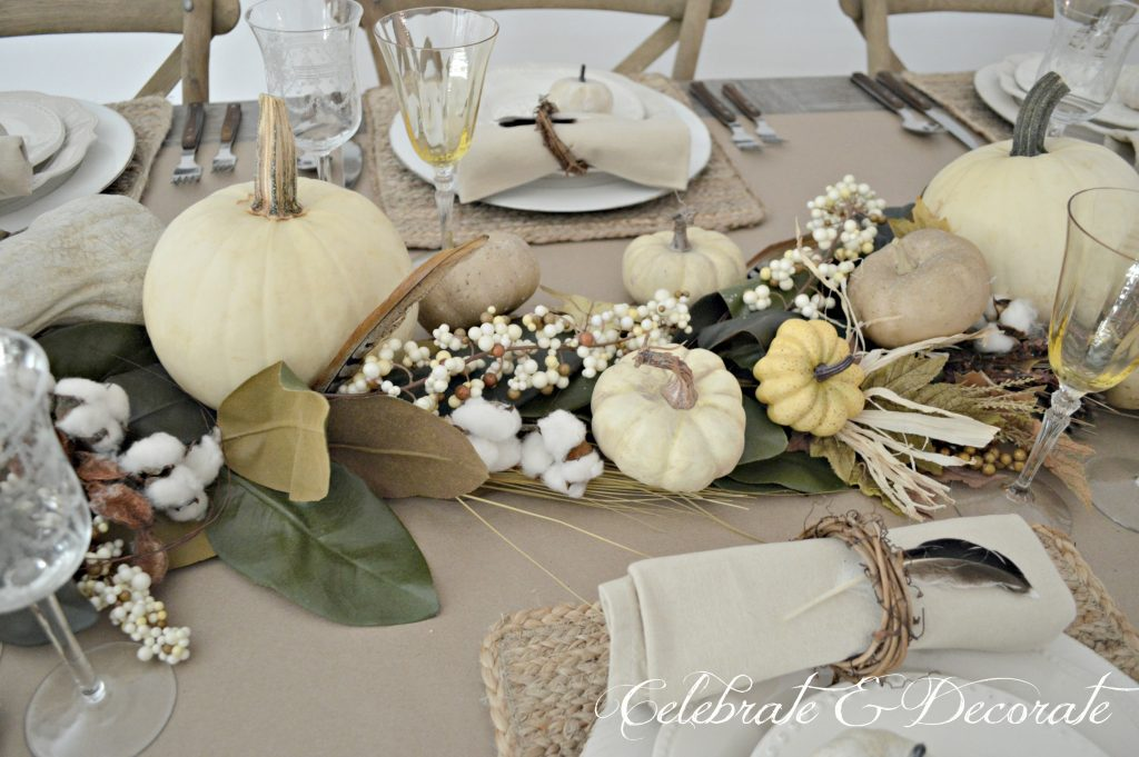 Thanksgiving is celebrated with an elegant neutral tablescape