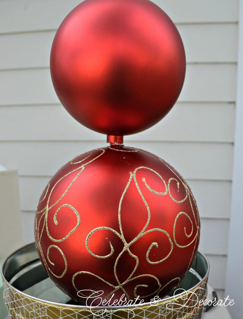 diy christmas ornament topiary - Christmas Topiary