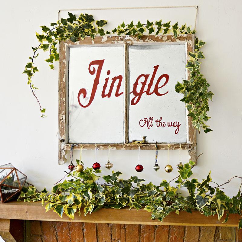 Old Window Christmas Decoration