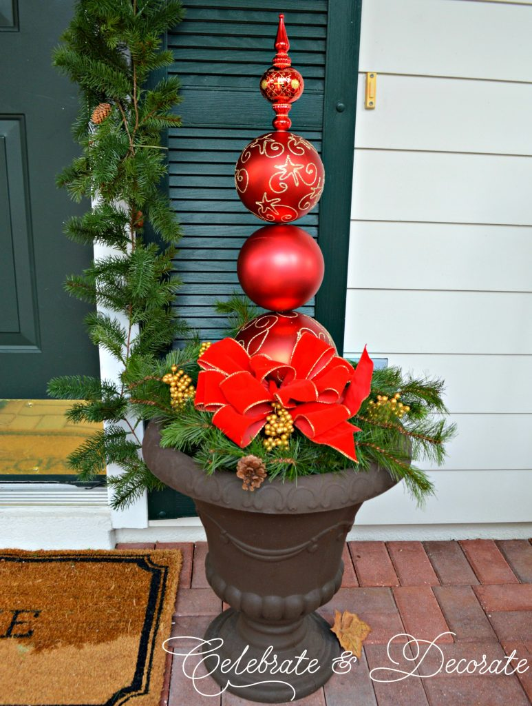 DIY Christmas Ornament Topiary