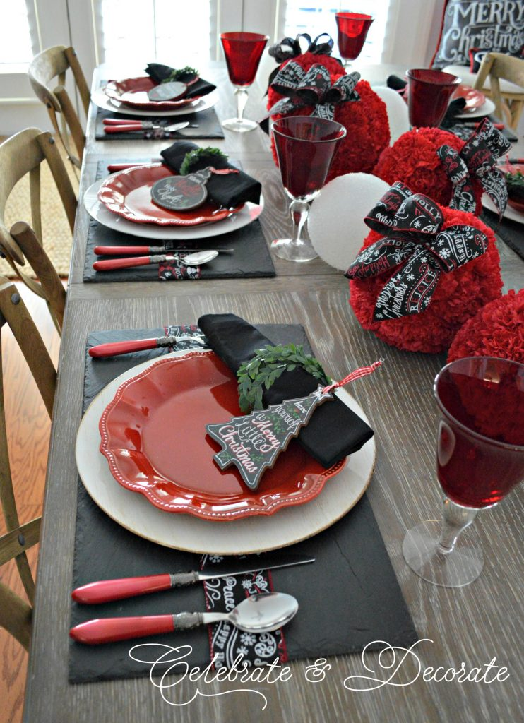 Holiday Tablescape for Christmas