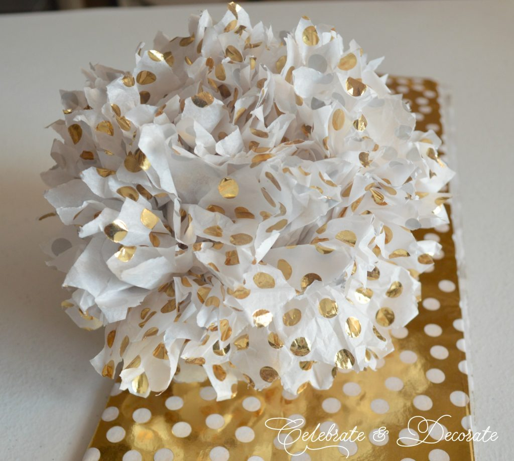 DIY Tissue paper party pom poms