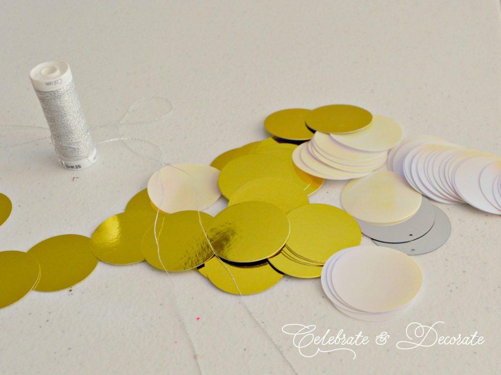 DIY Shimmer garland