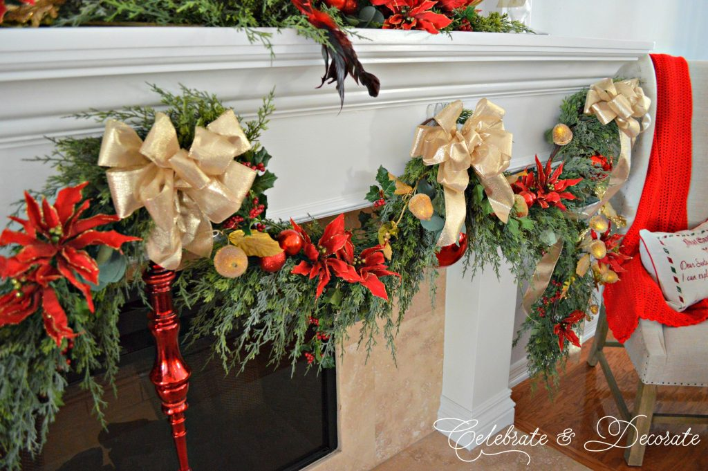 Traditional Mantel for Christmas