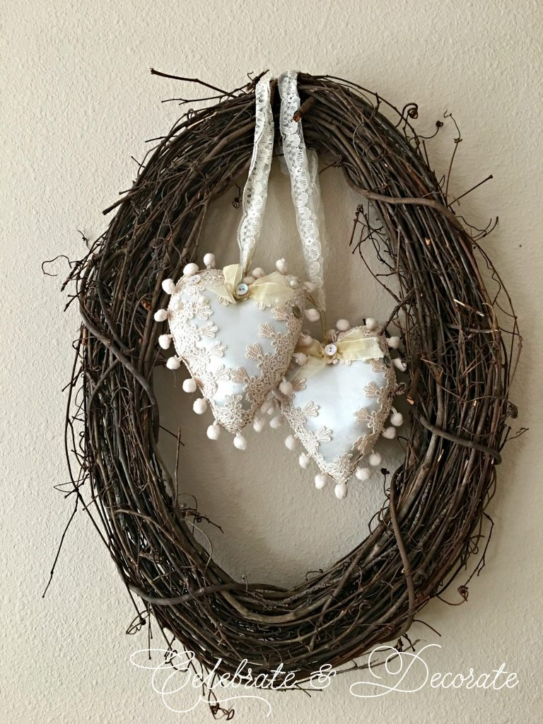 Make a vintage Valentine's Wreath