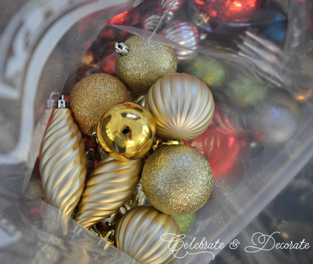 Easy storage for shatterproof ornaments