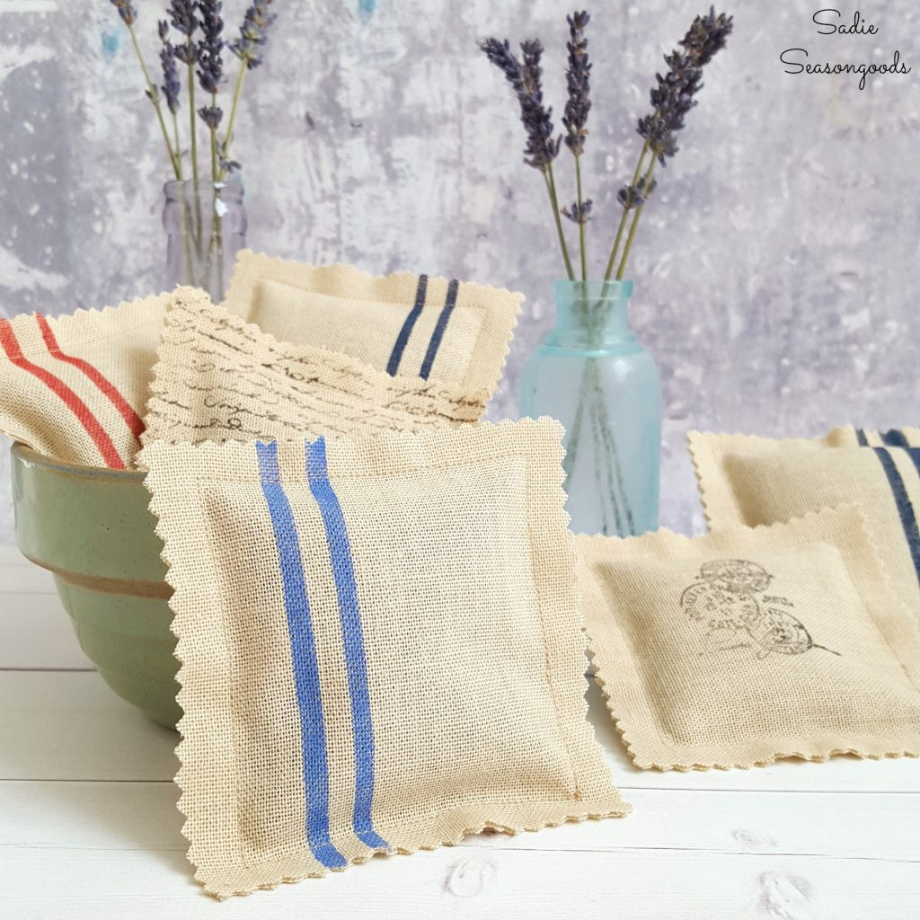Curtain_from_thrift_store_repurposed_as_French_inspired_grain_sack_lavender_sachets_by_Sadie_Seasongoods