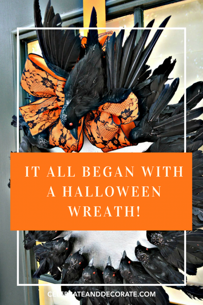 It All Began With A Halloween Wreath