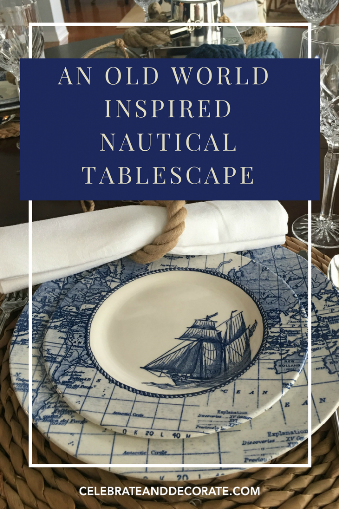 Old World Nautical Tablescape