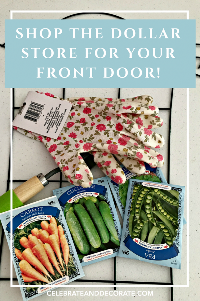 Shop the dollar store for your front door!