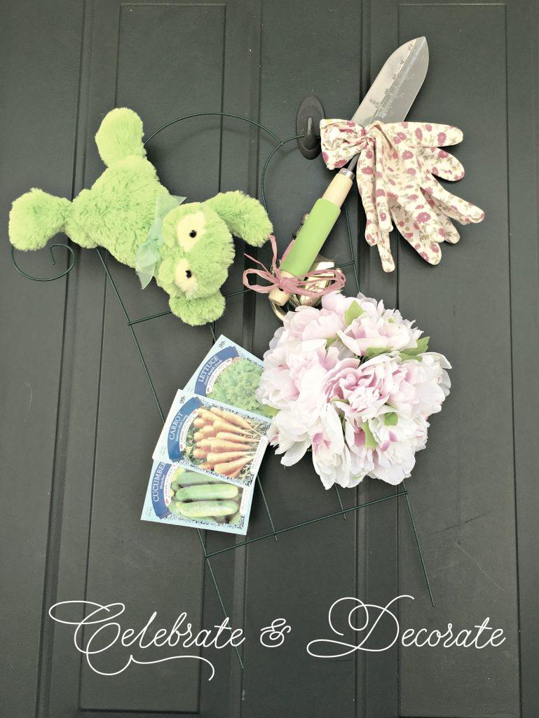 Springtime Gardener Door Decor
