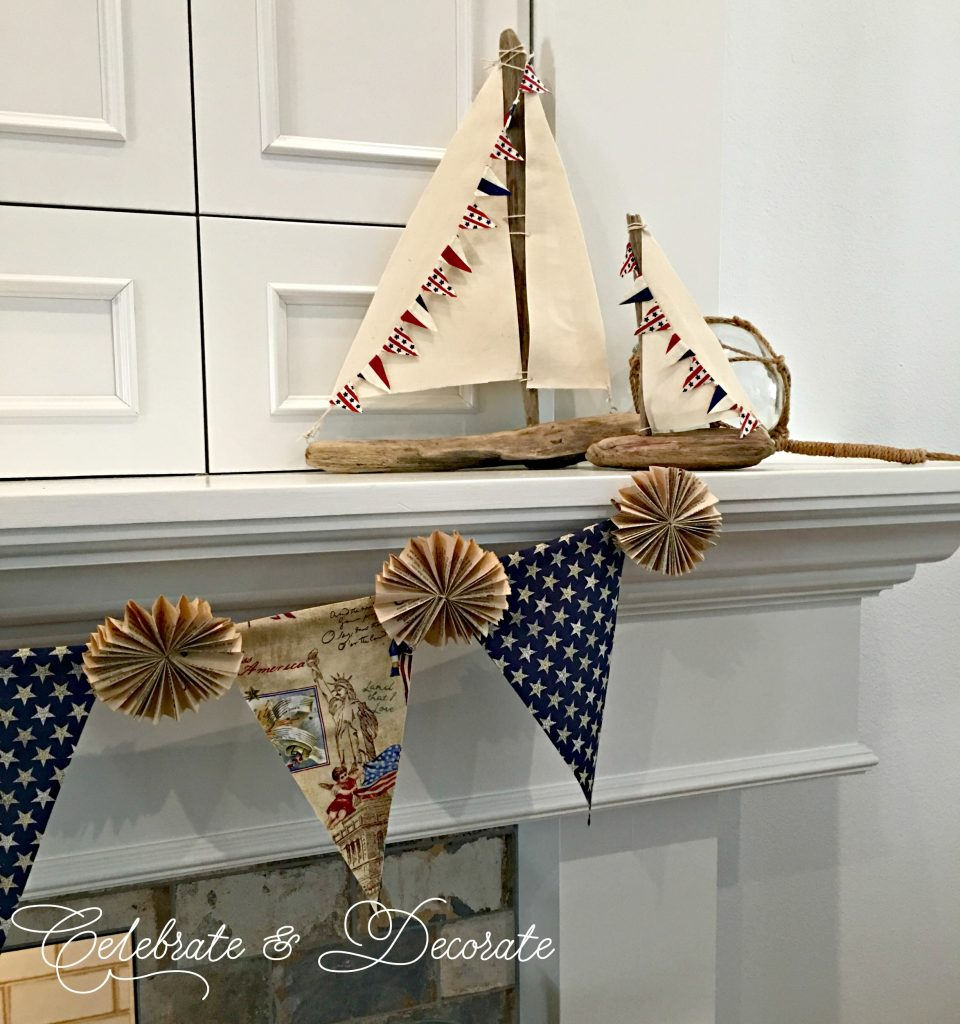 Vintage Look Fourth of July Banner