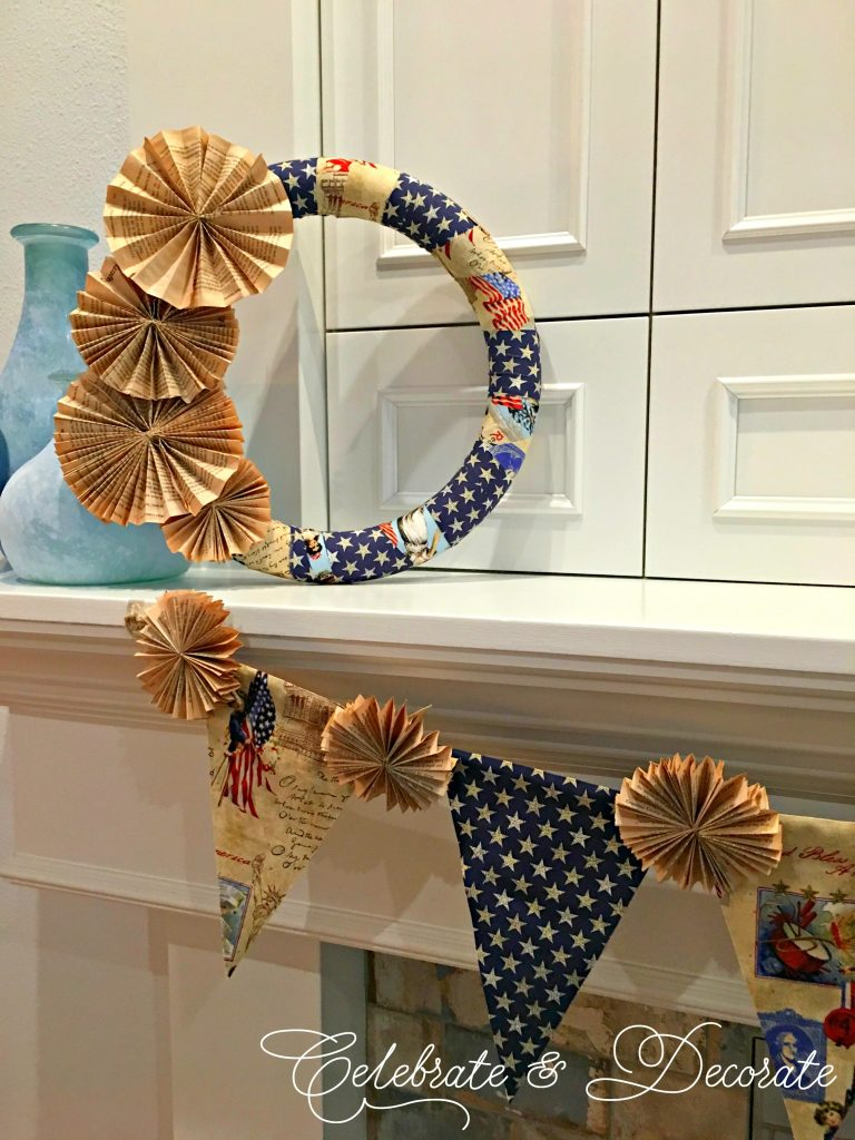 Vintage Patriotic Wreath
