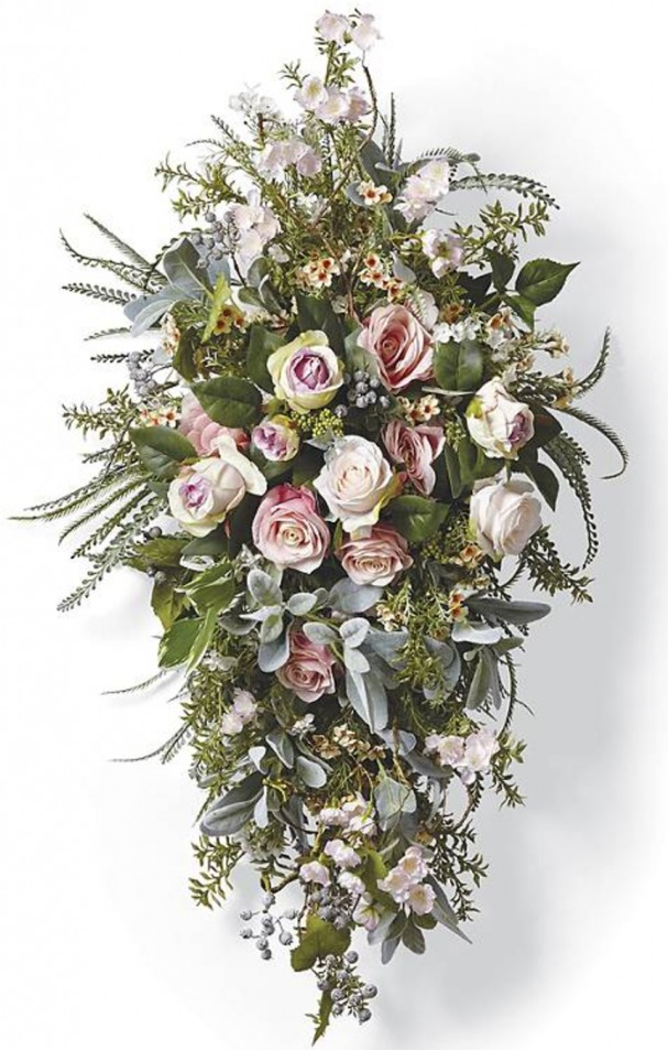 Catalog floral swag knock off celebrate decorate they called this their celie swag and says it welcomes spring i feel like this is an anytime of year swag but would be particularly mightylinksfo