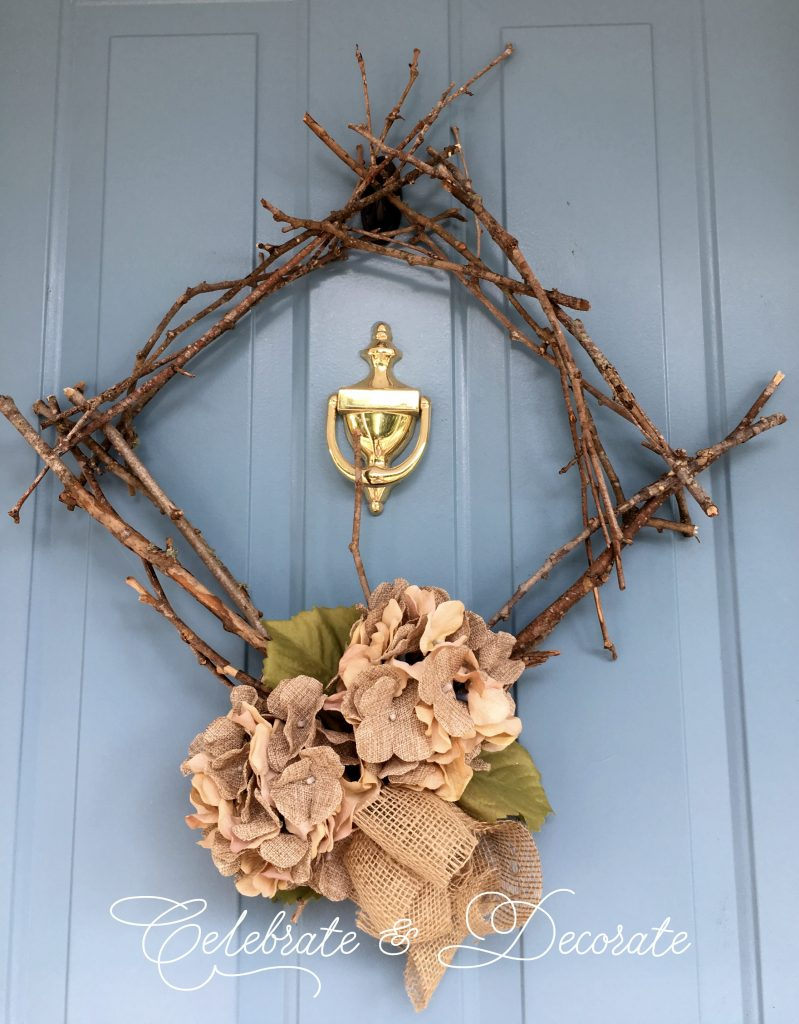 DIY Wreath made of twigs