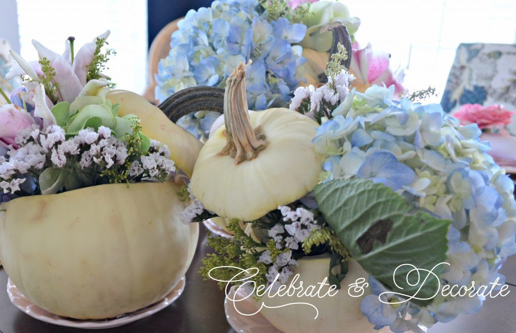 Fall table in pastels