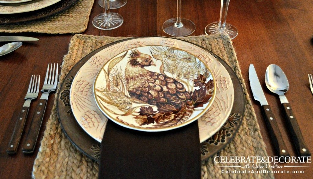 Fall tablescape with Pottery Barn Plates