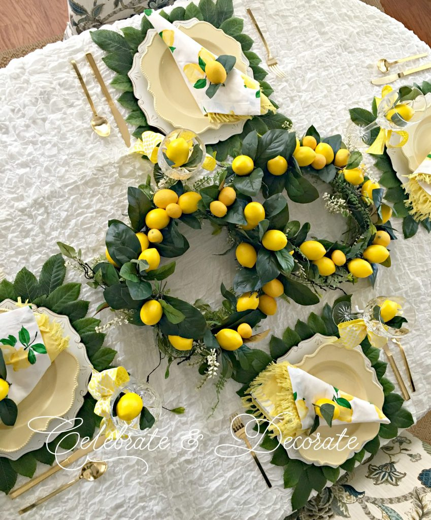 Lemony yellow tablescape