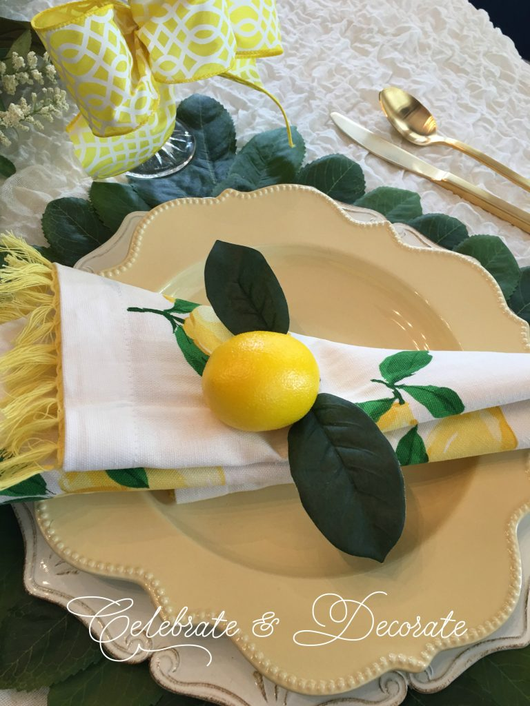 Yellow lemon tablescape