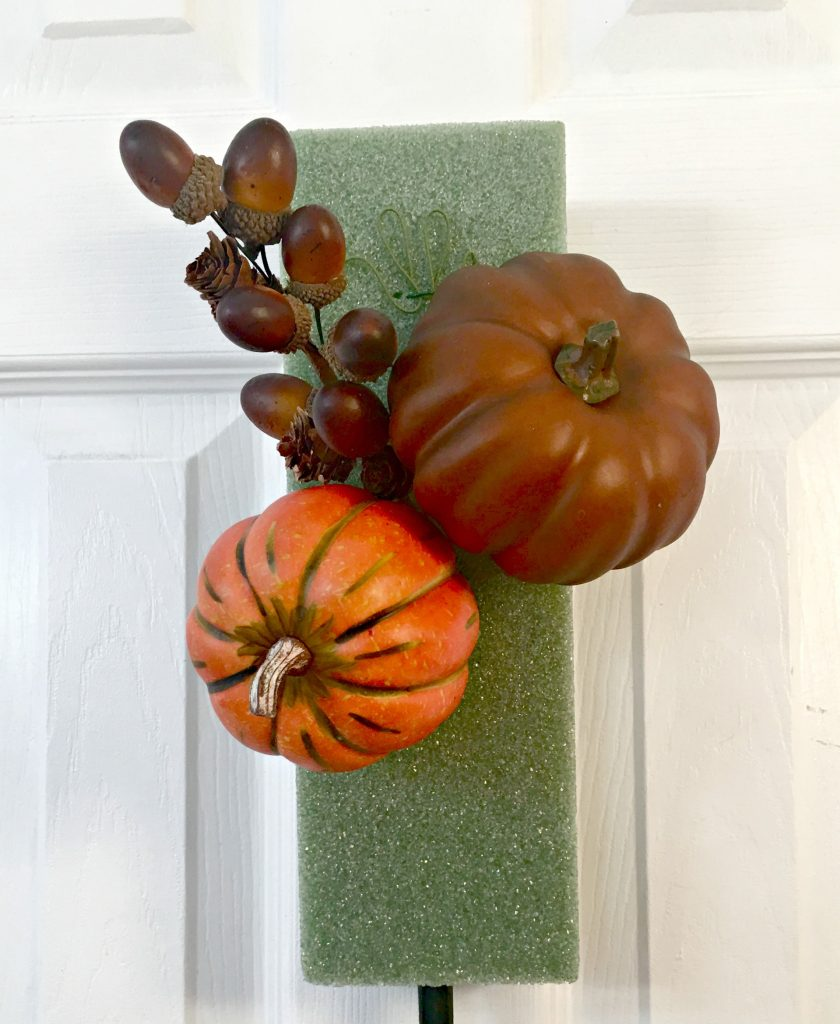 DIY fall front door swag