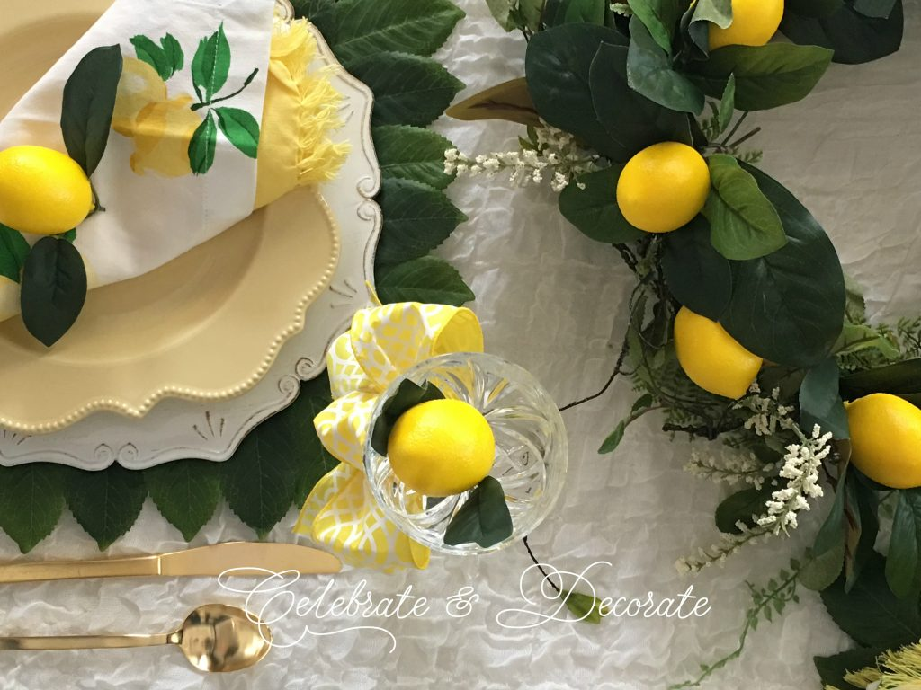 Lemon yellow tablescape