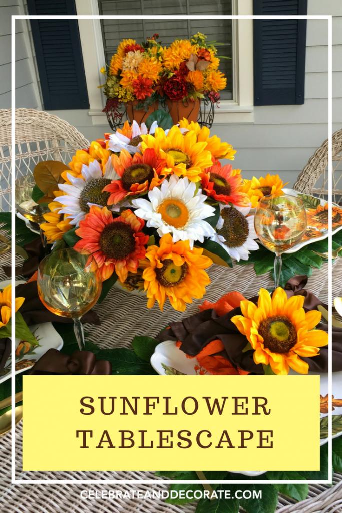 Late Summer Sunflower Tablescape Celebrate Amp Decorate