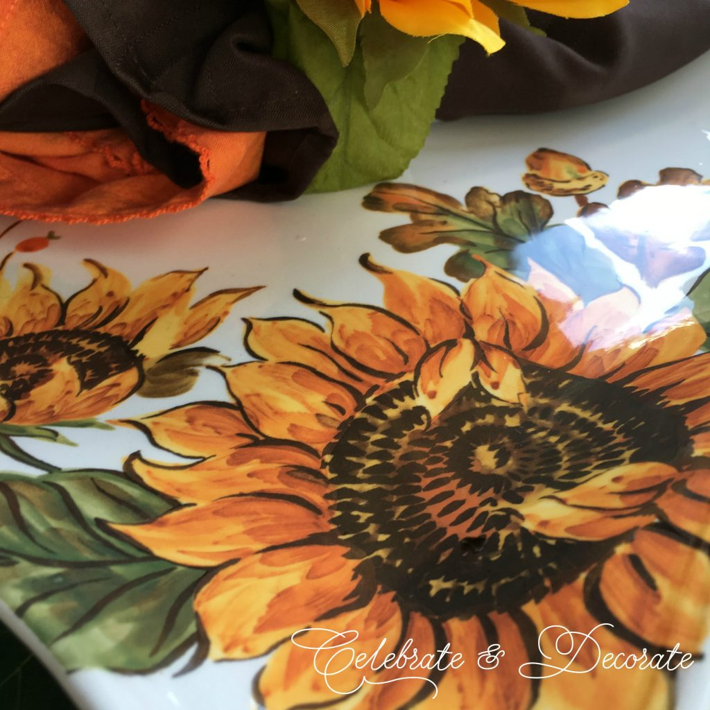 Sunflower dinner plates
