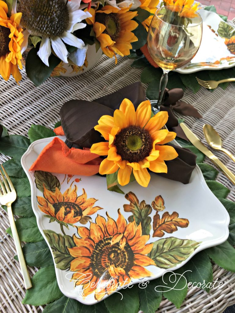 Sunflower tabletop