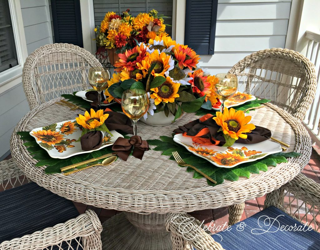 Sunflower tablesetting