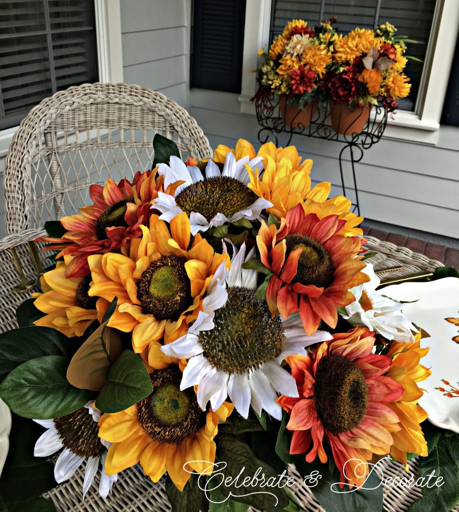 Sunflower tablescape for late summer