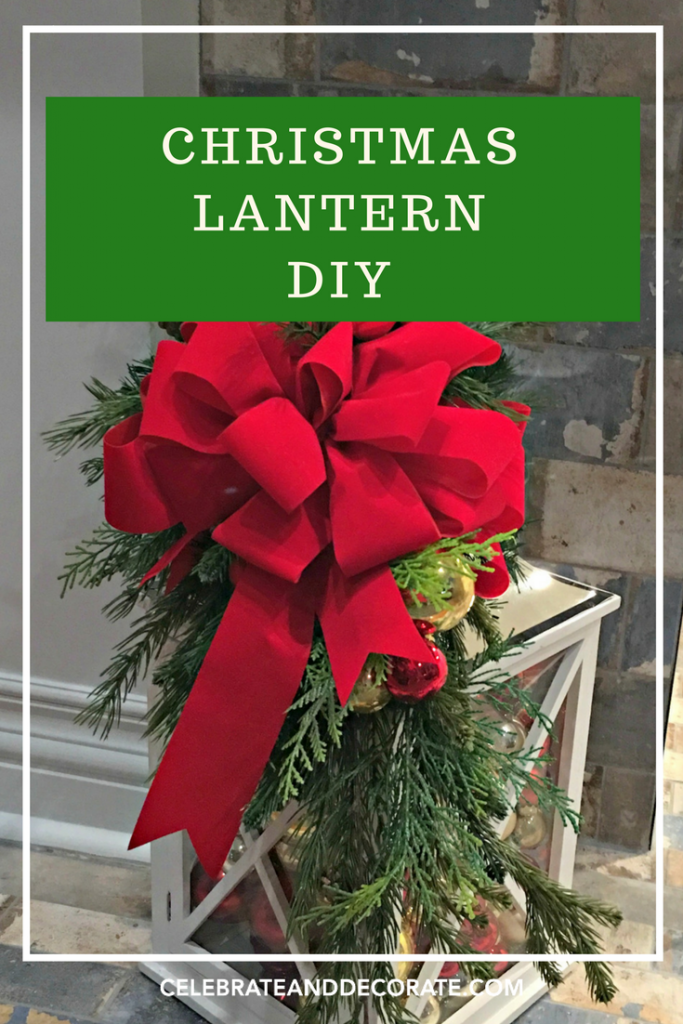 christmas decorated lantern - How To Decorate A Lantern For Christmas