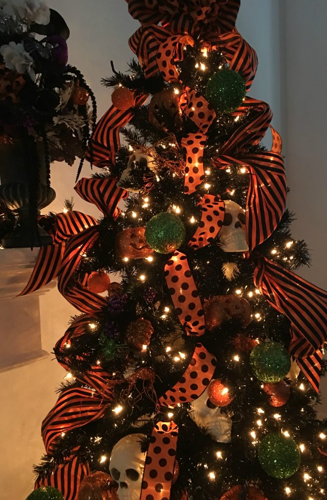Halloween Tree and Mantel
