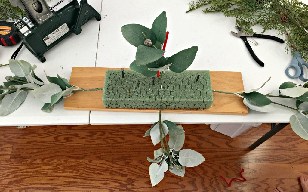 Make a mantelpiece for Christmas