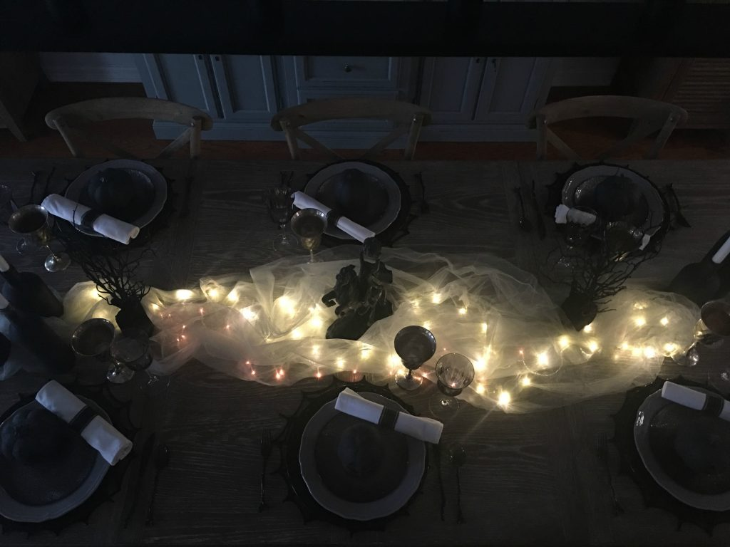 Headless Horseman Halloween tablescape