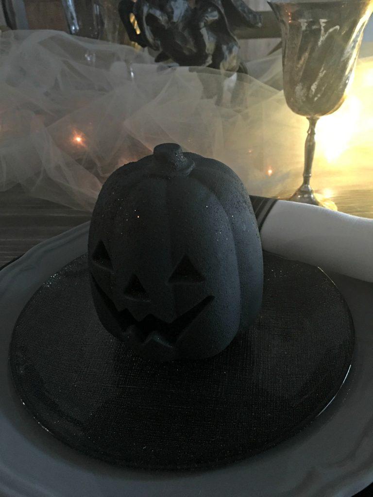 Headless Horseman Halloween tablescape
