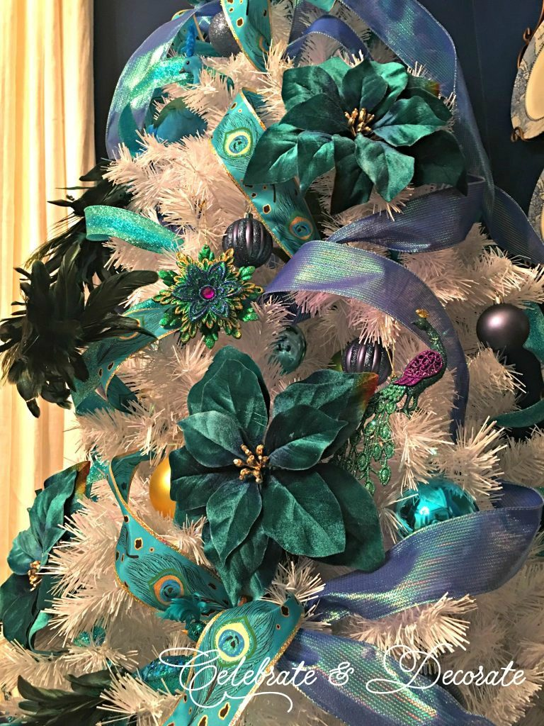 Peacock decorated Christmas Tree